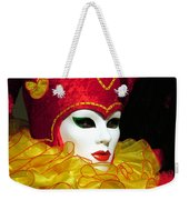 Red And Yellow Jester Weekender Tote Bag