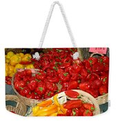 Red And Yellow Peppers Weekender Tote Bag