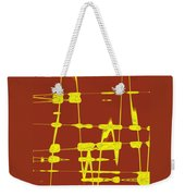 Red And Yellow Wave No 4 Weekender Tote Bag