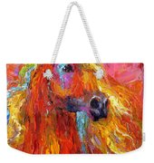 Red Arabian Horse Impressionistic Painting Weekender Tote Bag