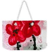 Red Asian Poppies Weekender Tote Bag
