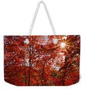 Red Autumn Leaves Weekender Tote Bag