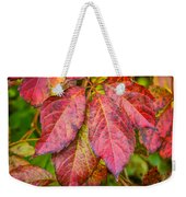 Red Autumn Weekender Tote Bag