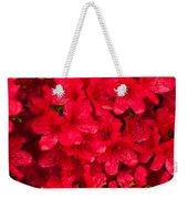 Red Azalias Weekender Tote Bag