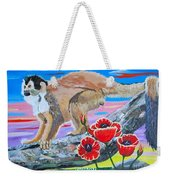 Red Backed Squirrel Monkey Base On A Photo By Larry Linton Weekender Tote Bag