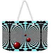 Red Balls Triptych Weekender Tote Bag