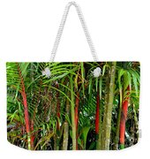 Red Bamboo Weekender Tote Bag
