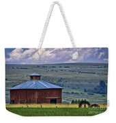 Red Barn And Barbed Wire Weekender Tote Bag