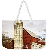 Red Barn And Silo Vermont Weekender Tote Bag