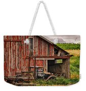 Red Barn And Truck In The Palouse Weekender Tote Bag