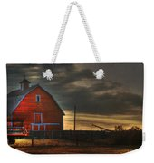 Red Barn At Dawn Weekender Tote Bag
