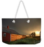 Red Barn At Sundown Weekender Tote Bag
