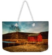 Red Barn At Twilight Weekender Tote Bag