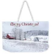 Red Barn Christmas Card Weekender Tote Bag
