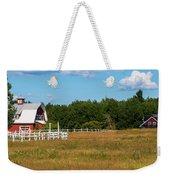 Red Barn In Meadow, Knowlton, Quebec Weekender Tote Bag