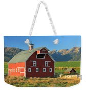 Dn5939-red Barn In The Wallowas Weekender Tote Bag