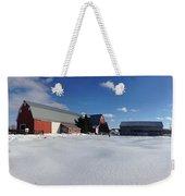 Red Barn Series Feat. Snow Weekender Tote Bag