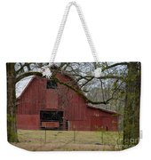 Red Barn Series Picture E Weekender Tote Bag