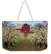 Red Barn Spring Weekender Tote Bag by Mike  Dawson