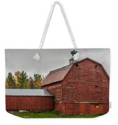 Red Barn With Fall Colors Weekender Tote Bag