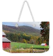 Red Barns And Mountains Weekender Tote Bag
