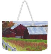 Red Barns At Freehold Weekender Tote Bag