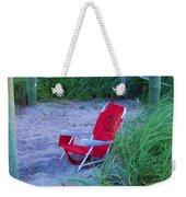 Red Beach Chair Weekender Tote Bag