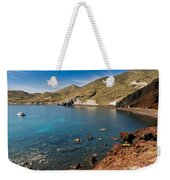 Red Beach Santorini Weekender Tote Bag