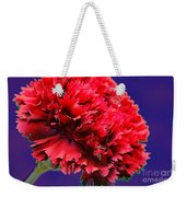 Red Beauty Carnation Weekender Tote Bag