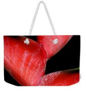 Red Beauty - Heliconia Weekender Tote Bag