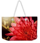 Red Beauty Welcomes The Sun - Flowers Of Summer Weekender Tote Bag