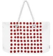 Red Berries In A Grid Weekender Tote Bag