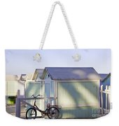 Red Bicycle At Mondello Beach Weekender Tote Bag