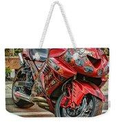 Red Bike Weekender Tote Bag