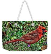 Red Bird Art Weekender Tote Bag