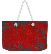 Red Black White Expressions Scramble  Black Red Weekender Tote Bag