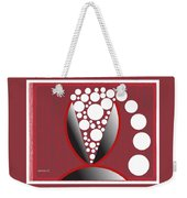 Red Black White Expressions Sparkling Wine Weekender Tote Bag