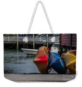 Red Blue And Yellow Weekender Tote Bag
