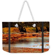 Red Boat At Low Tide Triptych Weekender Tote Bag