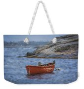 Red Boat In Peggy's Cove Weekender Tote Bag