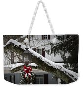 Red Bow Candle Light Weekender Tote Bag