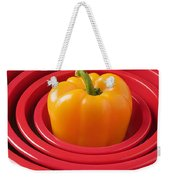 Red Bowls And Pepper Weekender Tote Bag