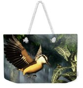 Red Breasted Nuthatch Eating Yellow Jacket Weekender Tote Bag