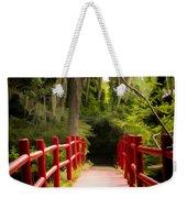 Red Bridge In Southern Plantation Weekender Tote Bag