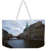 Red Bridge View - St. Petersburg - Russia Weekender Tote Bag