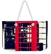 Red British Telephone Booth Weekender Tote Bag
