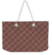 Red Brown And Green Diagonal Plaid Pattern Fabric Background Weekender Tote Bag