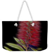 Red Brush Glow Weekender Tote Bag