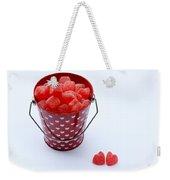 Red Bucket Of Hearts Weekender Tote Bag