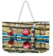 Red Buoy Reflections Of Alaska Weekender Tote Bag